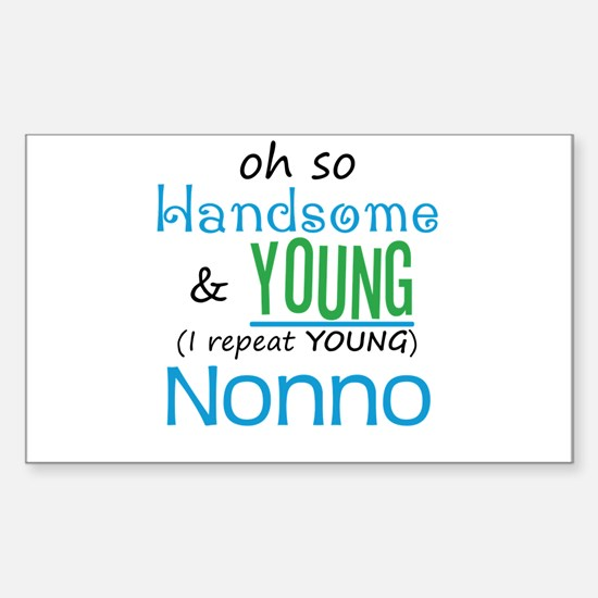 Handsome and Young Nonno Rectangle Decal