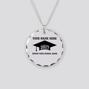 Class 2017 Necklace Circle Charm