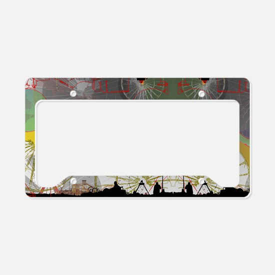 Amusement parks License Plate Holder