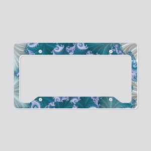 floral abstract background License Plate Holder