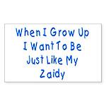 Just Like Zaidy Rectangle Sticker