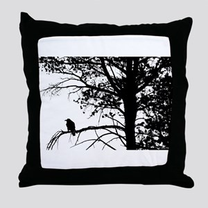 Raven Thoughts Throw Pillow