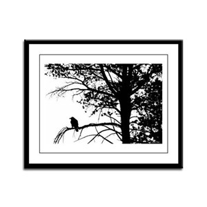 Raven Thoughts Framed Panel Print