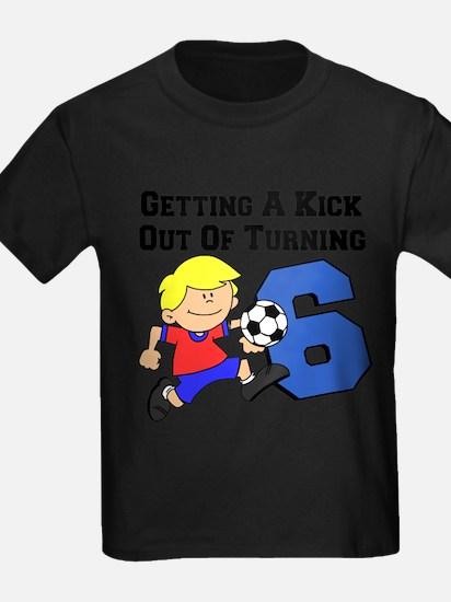 Soccer Boy Turning 6 T-Shirt