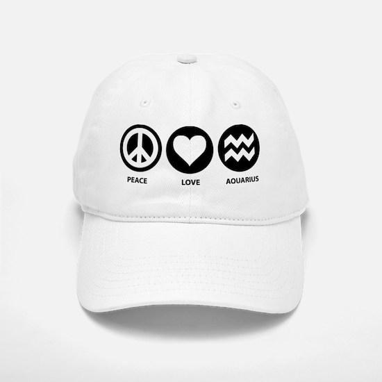 Peace Love Aquarius Baseball Baseball Cap