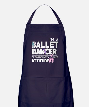 I'm A Ballet Dancer T Shirt Apron (dark)