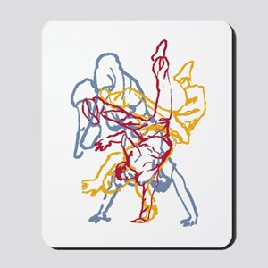 Blue, Red, Yellow Breakdance Mousepad
