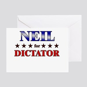 NEIL for dictator Greeting Card