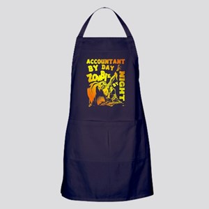 Accountant By Day Zombie By Night T S Apron (dark)