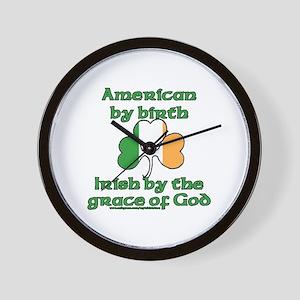 Funny Irish American Joke Wall Clock