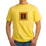 Christmas Candle Yellow T-Shirt