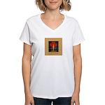 Christmas Candle Women's V-Neck T-Shirt