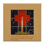 Christmas Candle Tile Coaster
