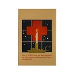 Christmas Candle Rectangle Magnet (100 pack)