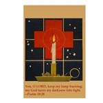 Christmas Candle Postcards (Package of 8)