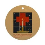 Christmas Candle Ornament (Round)