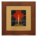 Christmas Candle Framed Tile