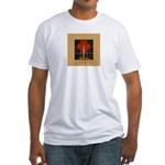 Christmas Candle Fitted T-Shirt