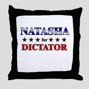 NATASHA for dictator Throw Pillow