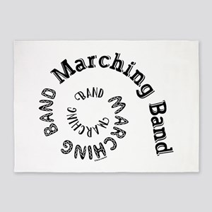 Marching Band Spiral 5'x7'Area Rug