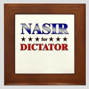 NASIR for dictator Framed Tile