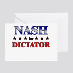 NASH for dictator Greeting Card
