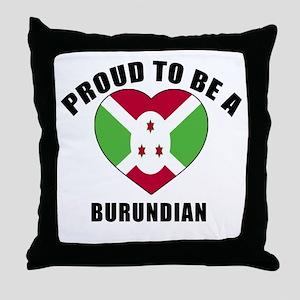 Burundian Patriotic Designs Throw Pillow