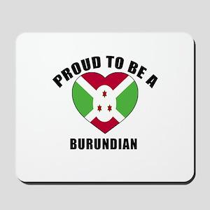 Burundian Patriotic Designs Mousepad