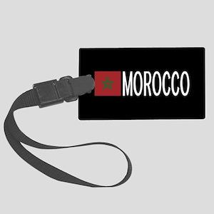 Morocco: Moroccan Flag & Morocco Large Luggage Tag