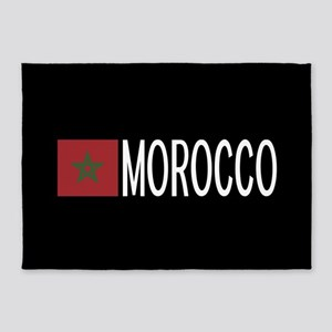 Morocco: Moroccan Flag & Morocco 5'x7'Area Rug