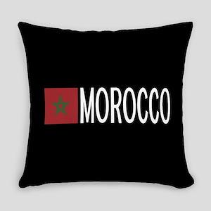 Morocco: Moroccan Flag & Morocco Everyday Pillow