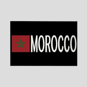 Morocco: Moroccan Flag & Morocco Rectangle Magnet
