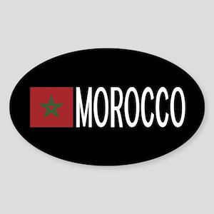 Morocco: Moroccan Flag & Morocco Sticker (Oval)