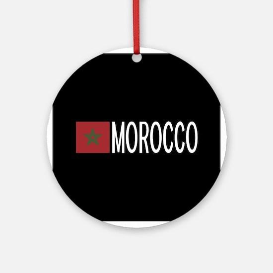 Morocco: Moroccan Flag & Morocco Round Ornament