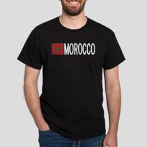 Morocco: Moroccan Flag & Morocco Dark T-Shirt