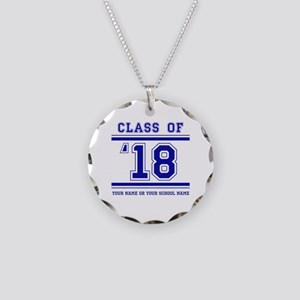 Class 2018 Necklace Circle Charm