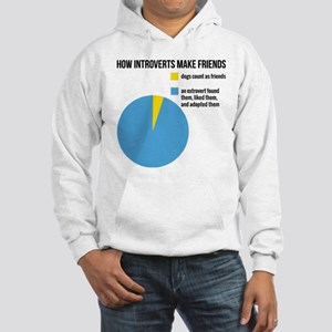 How introverts make friends Sweatshirt