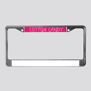 LIKE A COTTON CANDY BOSS License Plate Frame