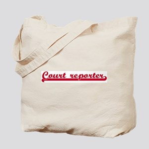 Court reporter (sporty red) Tote Bag