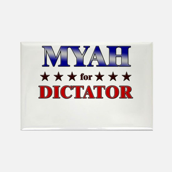 MYAH for dictator Rectangle Magnet