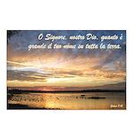 Salmi 8:9 Italian Postcards (Package of 8)