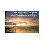 Salmi 8:9 Italian Rectangle Magnet (100 pack)