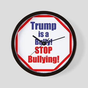 Stop bullying, stop Trump Wall Clock