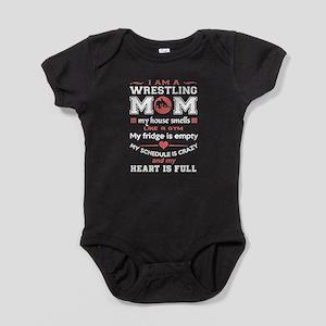 WRESTLING MOM SHIRT Baby Bodysuit