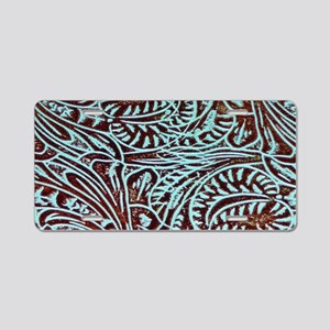 country western turquoise l Aluminum License Plate
