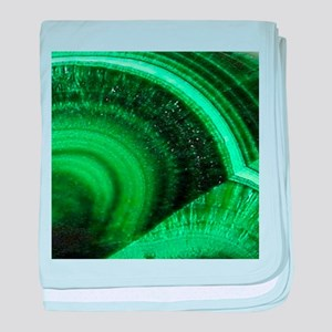 bohemian tribal gemstone emerald baby blanket