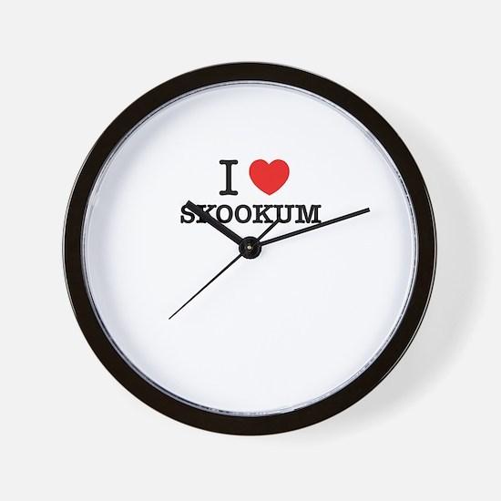 I Love SKOOKUM Wall Clock