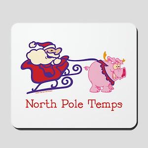 North Pole Temp Mousepad