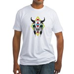 Tribal Cow Skull Fitted T-Shirt