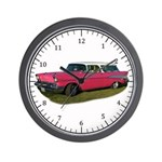 Pink Chev Bel Air Modern Wall Clock